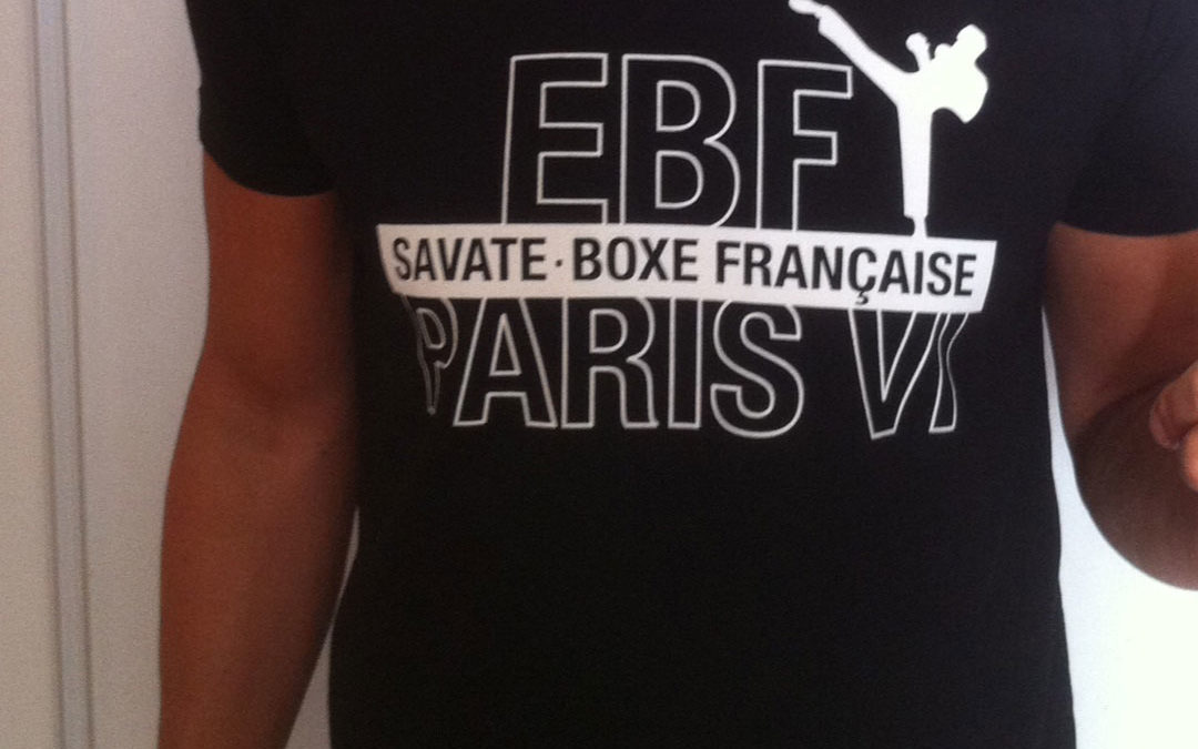 boxe française Savate Paris ebf6 T-shirt-noir-club